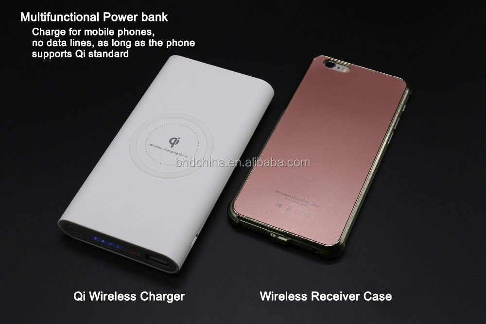 2018 Trending Products New Premium Wireless Charger Powerbank 10000 mah for Samsung for iphone 7 case for Redmi note 4