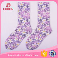 2016 new fashion factory supply sublimation socks women
