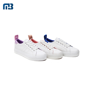 New Type Customized 35-41 Size Women'S White PU Leather Upper Casual Shoes