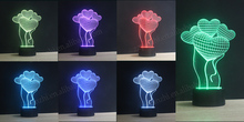 Power saving 3d deco light factory price