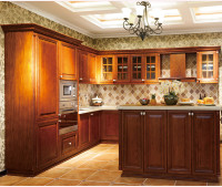 china factory wholesale cheap solid wood kitchen cabinet
