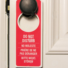 H&D 0.3mm Tin Metal Sign Not Disturb Hotel Room Door Sign Hanger Name Plate