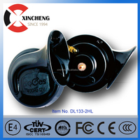 Black Loud Dual-tone Snail Universal Electric Motorcycle auto Horn 6V 12V 24V 48V 60V110 dB For Car Truck Auto