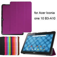 10.1 inch universal tri-fold flip case tablet cover with stand function for Acer Iconia one 10 B3-A10