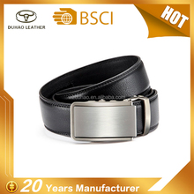Custom Mens Automatic Buckle Ratchet Belt Mens Leather Belt Formal