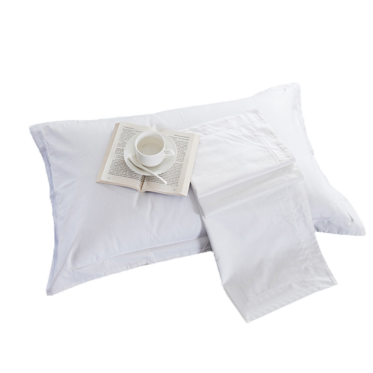 5 Star Hotel White Pillow Case 20 Polyester 80 Cotton Embroidery Pillowcases for Hotels Resorts