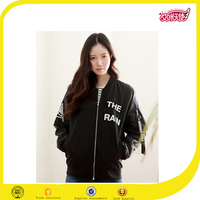 2016 wholesale fashion korea girl wholesale custom nylon bomber jackets