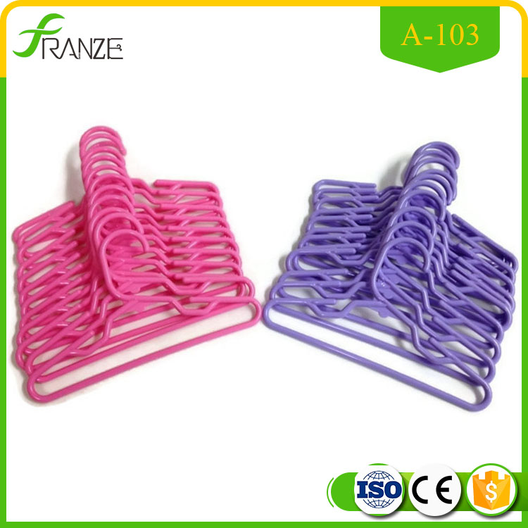 Doll Hangers Set of 24 Plastic Hangers, 12 Pink and 12 Lavender Fits 18 Inch American Girl Dolls Clothes,