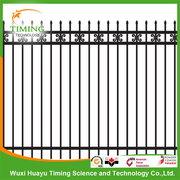 Wall iron fence design decorative garden fence