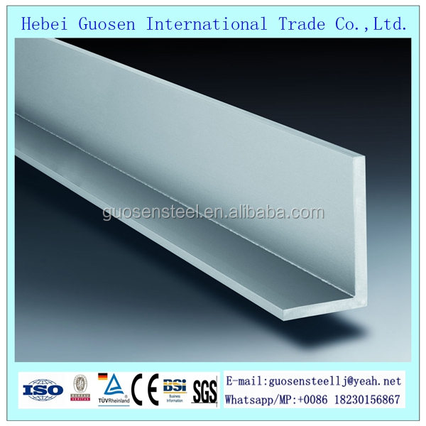 Gold supplier Trade Assurance carbon angle L steel bar sizes iron bars for construction