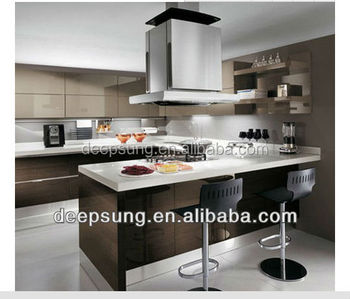 Simple design modern kitchen lacquer cabinet made in china