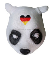 Hot Selling New Designed Panda Mask Fancy Dress Rubber Latex CRO Panda Mask for Panda Movie Singing