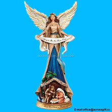 Polyresin Angel Nativity Figurine: Unto Us A Child Is Born
