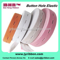 expandable 1 inch&2 inch button holes elastic webbing