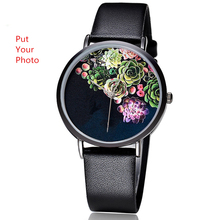 OEM Picture Accepted Custom Brand Watch Face Changeable Customized Flower Pattern Dial Women Wrist Watch Personalized