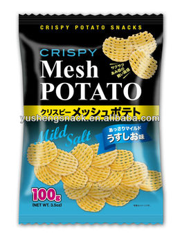 Crispy potato snacks