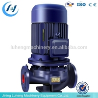 ISG series vertical inline centrifugal water pump in firefighting(Speech:1450 or 2900 rpm (50Hz) 1750 or 3)