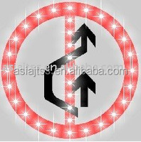 Solar prohibition sign solar road signs solar traffic sign