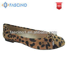 Leopard Flat Leather Ballerina Shoes 2013