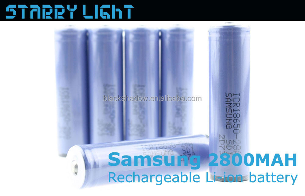 Samsung ICR18650-28A 2800mah rechargeable lithium ion 18650 battery