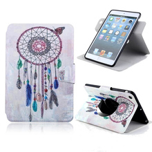 For iPad Mini 1/2 case Thin Magnetic PU Leather Colored lovely Print Flip Stand Customize Protective cover for iPad Mini 1/2case