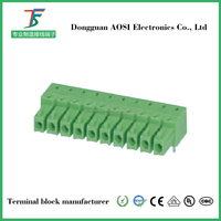 3.81mm pitch 10 pin Free sample plug in terminal connector
