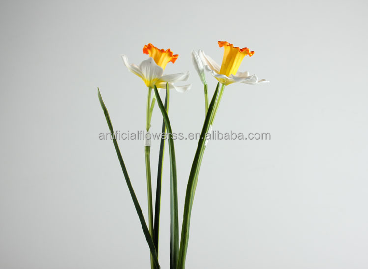 AF-SKSM home decoration artificial plastic silk daffodil