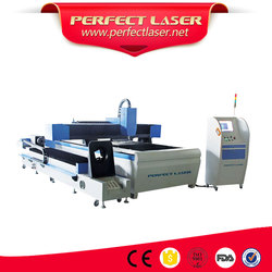 High accuracy stainless carbon steel metal sheet square pipe fiber laser cutting machine