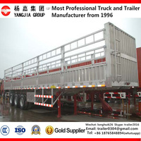 China Best-Selling 2/3 axles box transport semi trailer