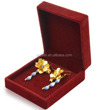 24K Gold Foil Flower orchid Earrings with pendant in Chinese Style