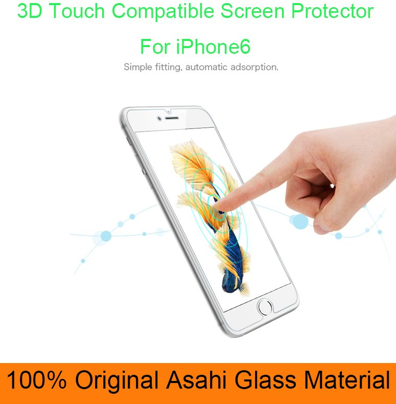 9h 0.33mm Anti fingerprint tempered glass screen protector for iphone 6 for iPhone7 plus