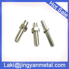 cnc turning hex male stud bolt and nut mde in china