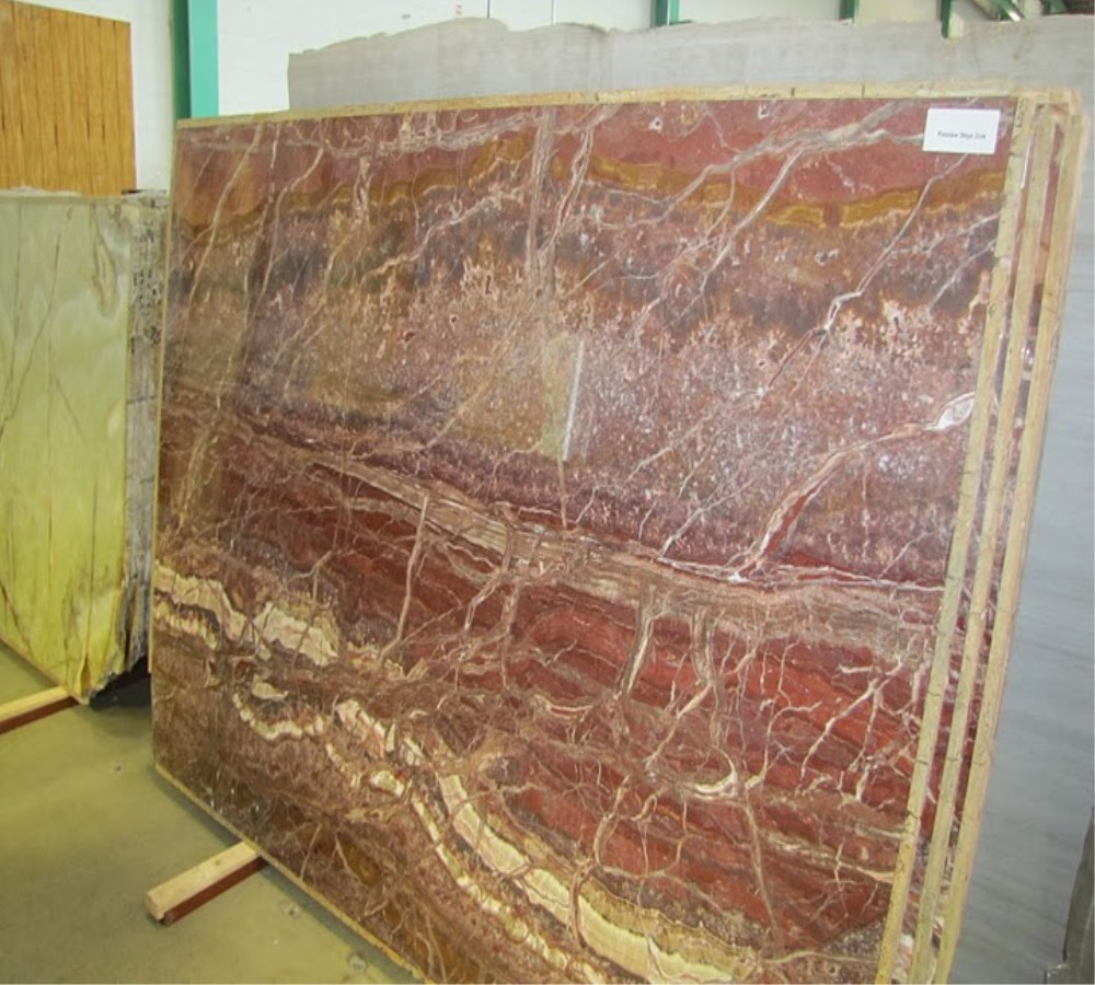 Natural Marble Big Slab Polished Red Mexico Onyx