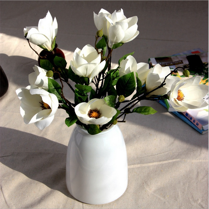 China artificial flowers artificial flowers wedding artificial magnolia flower
