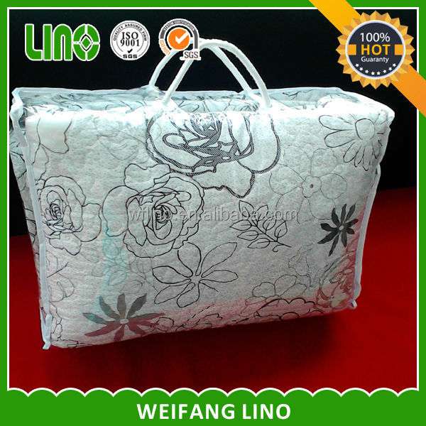 newest product 3d printed duvet polyester microfiber filling cotton quilt blanket block print