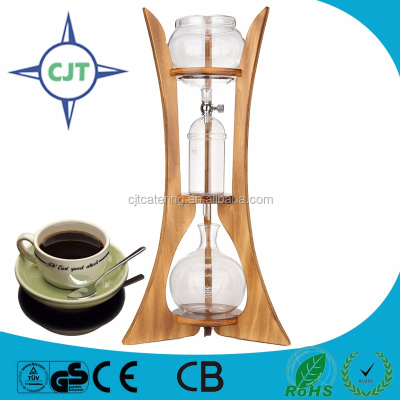 Household Wood stand drip coffee maker ice brewer