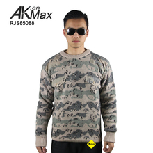 Militer pria polos pullover wool crew neck camo mens sweater/sweater