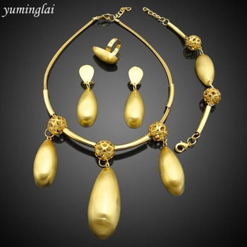 New models Fashion bridesmaid jewelry sets online shopping with 18k gold plated