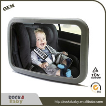 2017 new adjustable rear view back seat safety baby car mirror with light and music