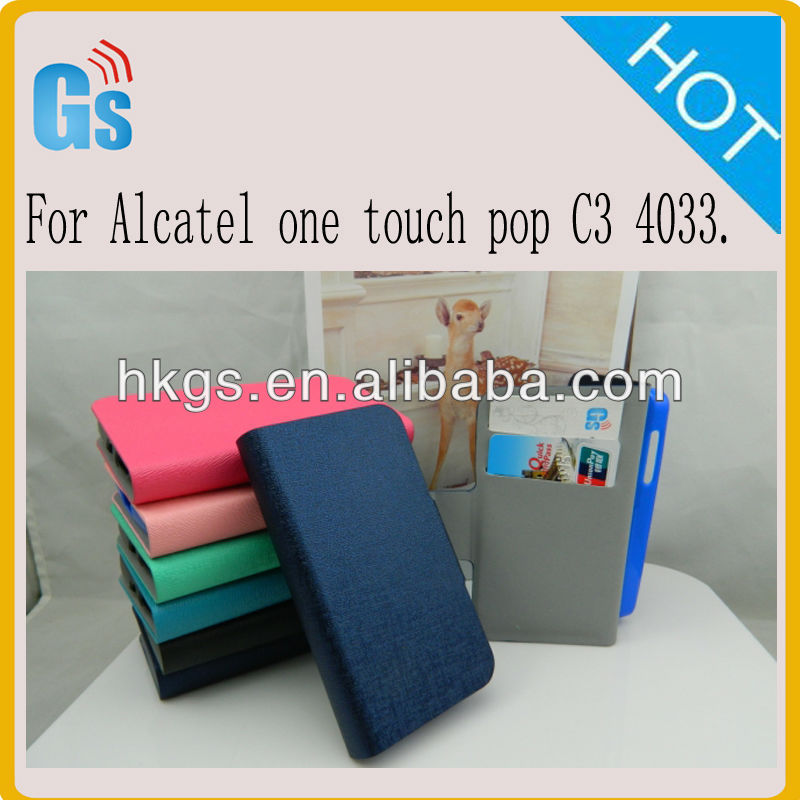 Leather Flip Case For Alcatel One Touch Pop C3 4033 For Digicel DL700