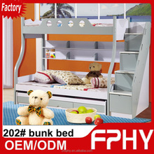FPHY Modern Children Bedroom 202# Pink Blue Red MDF cheap queen size bunk bed