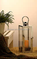 "Contemporary Style Indoor/Outdoor Decorative 18"" Durable Sleek Stainless Steel Lantern"