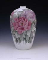 Charming flower design China Well-known Trademark Hand Painted Underglaze Porcelain ceramic flower vase