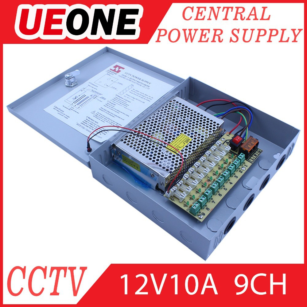 Promotion 9channels DC 12V Output Switching Power <strong>Supply</strong> 10a