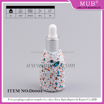15ML Dazzle Colored Glass Dropper Bottles For Essential Oil
