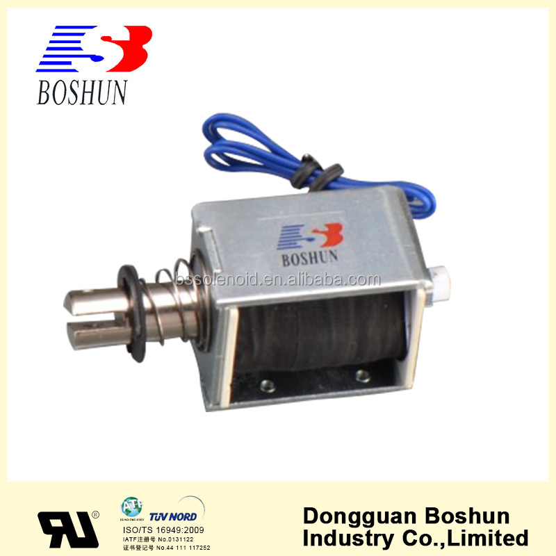 Long stroke push pull solenoid, electromagnet with 12vdc, BS-1550