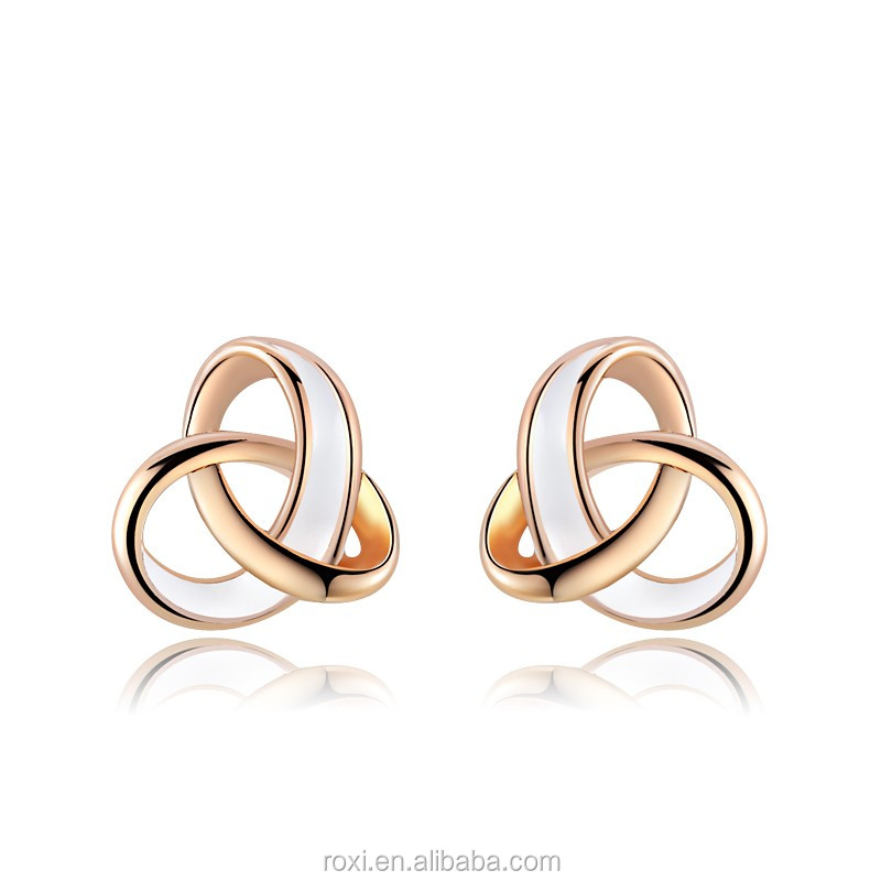 Tricyclic <strong>earrings</strong> Women Rose Gold Plated Charming Intersect Design <strong>Earrings</strong>