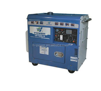 small air cooled super silent diesel engine generator price Hp7000LN