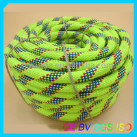 Fluorescent green 48-strand braided marine ropes for ship and boat