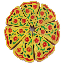 Spot Wholesale New BB Whistle Sounding Pet Toy Vinyl Pizza Pet Toys For Dog
